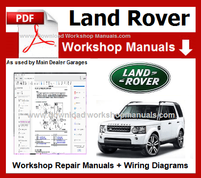 Land Rover Range Rover Workshop Repair Manuals Download