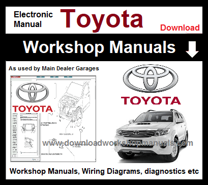 Toyota Workshop Repair Manuals Download