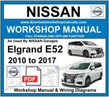 Nissan Elgrand E52 Workshop Service Repair Manual
