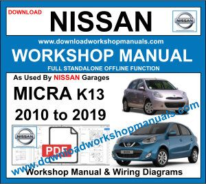 Nissan Micra K13 workshop repair manual