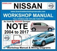 Nissan Note workshop repair manual