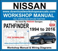 Nissan Pahfinder Workshop Repair Manual