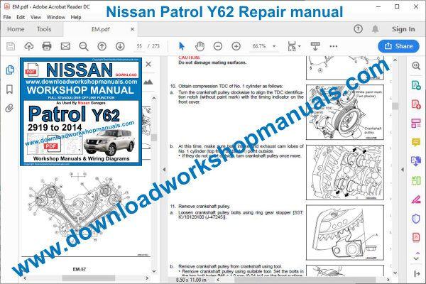 Nissan Patrol 2010 To 2014 Workshop Repair Manual Pdf
