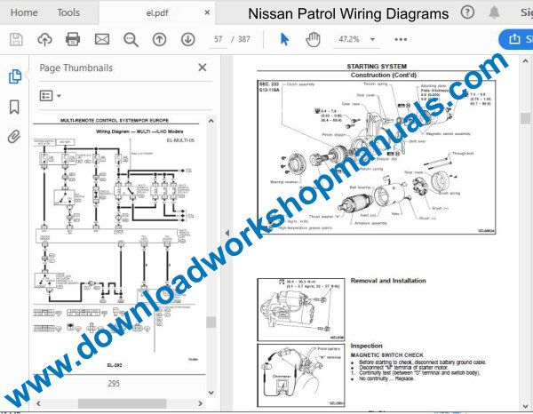 Nissan Patrol 1997 To 2010 Workshop Repair Manual Pdf
