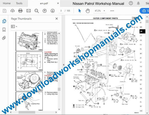 Nissan Patrol 1997 To 2010 Workshop Repair Manual Pdf