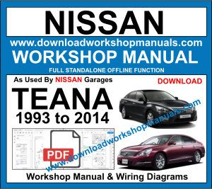 NissanTeana workshop repair manual