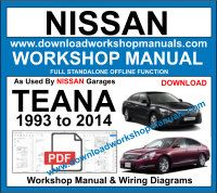 NissanTeana workshop service repair manual