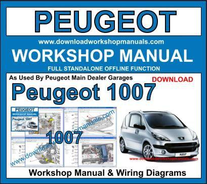 peugeot 1007 workshop service repair manual