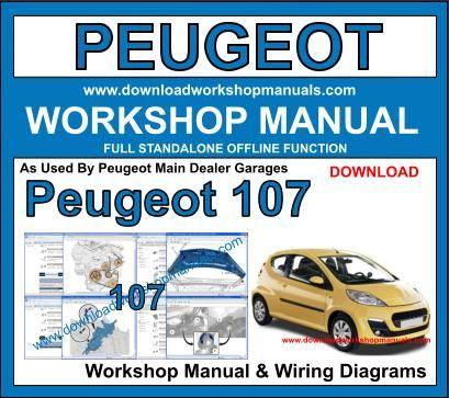 peugeot 107 workshop service repair manual
