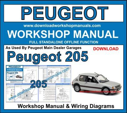 Peugeot 205 Workshop Repair Manual Download