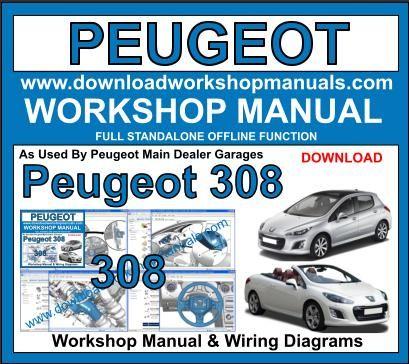 peugeot 308 workshop service repair manual