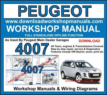Pleasant Peugeot 4007 Workshop Repair Manual Wiring 101 Kwecapipaaccommodationcom