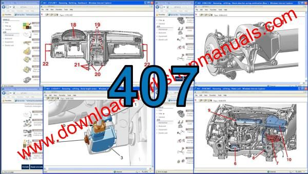 Peugeot 407 workshop manual