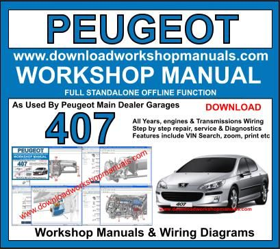 Peugeot 407 workshop service repair manual