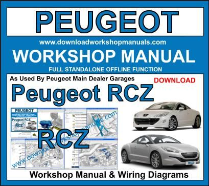 Peugeot RCZ workshop service repair manual