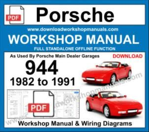 Porsche 944 Workshop Service Repair Manual Download