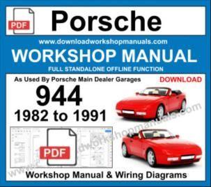 Porsche 944 Workshop Service Repair Manual