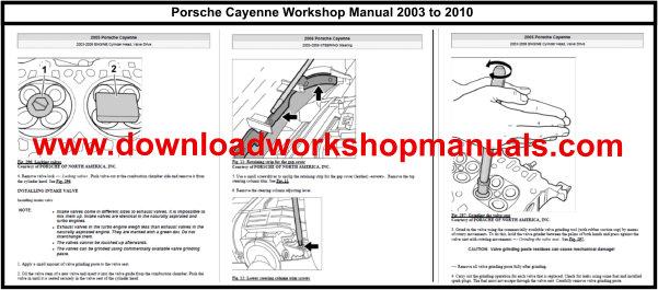 Porsche Cayenne Workshop Service Repair Manual And Parts Catalogue
