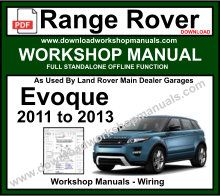 Range Rover Evoque Workshop Service Repair Manual Download