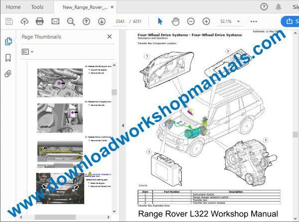 range rover l322 workshop repair manual pdf
