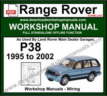Range Rover P38 Workshop Service Repair Manual Download