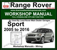 Range Rover Sport Workshop Service Repair Manual Download