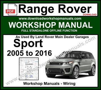 range rover sport l320 full service repair manual 2007 2009