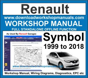 renault symbol workshop service repair manual