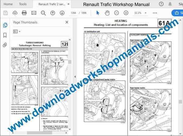 Renault Traffic repair manual