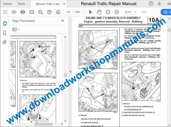 Renault Traffic workshop manual
