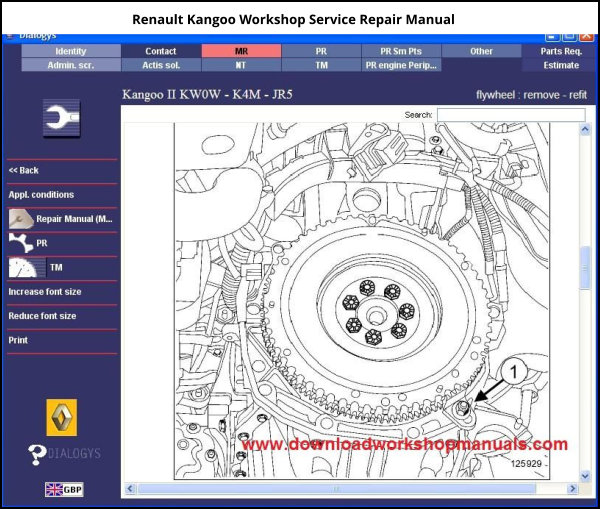 Renault Kangoo Workshop Service Repair Manual Download