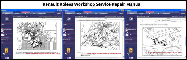 Renault Koleos Workshop Service Repair Manual Download