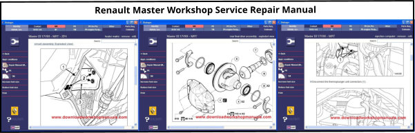 Renault Master Service Repair Workshop Manual download