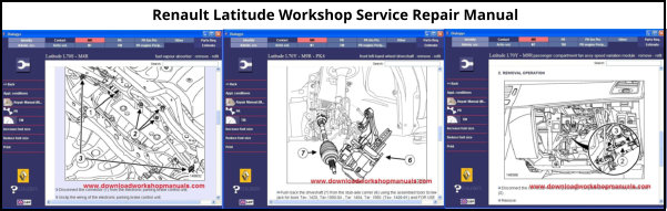 Renault Latitude Service Repair Workshop Manual Download