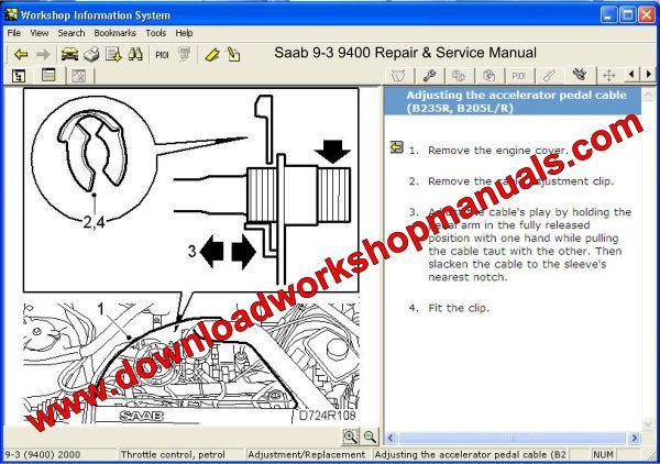Saab 9-3 9400 Repair & Service Manual