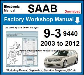 Saab 9-3 9440 Service Repair Manual