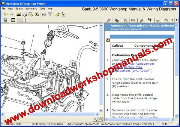 SAAB 9-5 Service Repair Workshop Manual