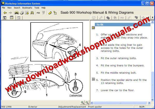 1998 saab 900 wiring diagram saab 900 service repair workshop manual  saab 900 service repair workshop manual