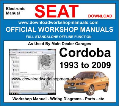 Seat Cordoba Workshop Service Repair Manual