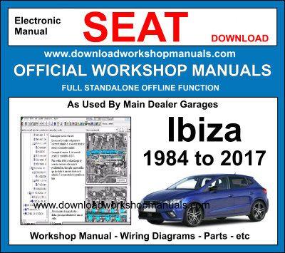 MANUALE OFFICINA SEAT IBIZA 5D 2008-2016 WORKSHOP MANUAL SERVICE
