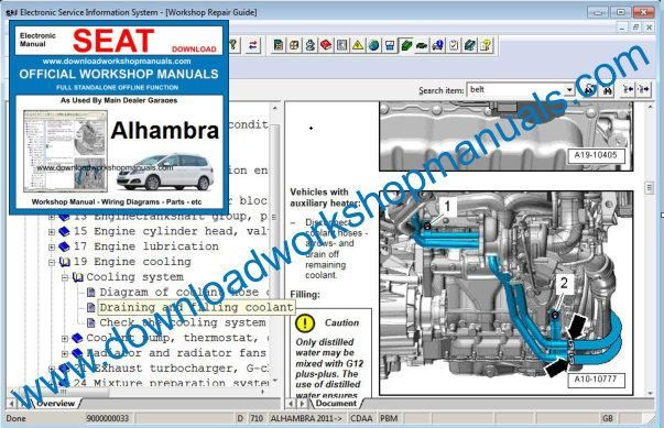 seat alhambra workshop repair manual. Black Bedroom Furniture Sets. Home Design Ideas