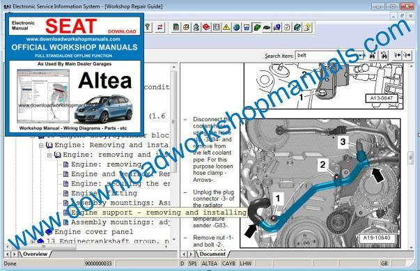 Seat Altea Repair Manual