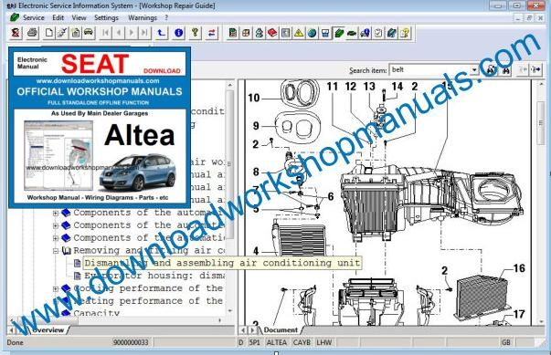 Seat Altea Workshop Manual