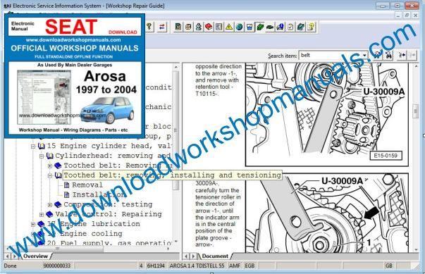 Seat Arosa Workshop Repair Manual