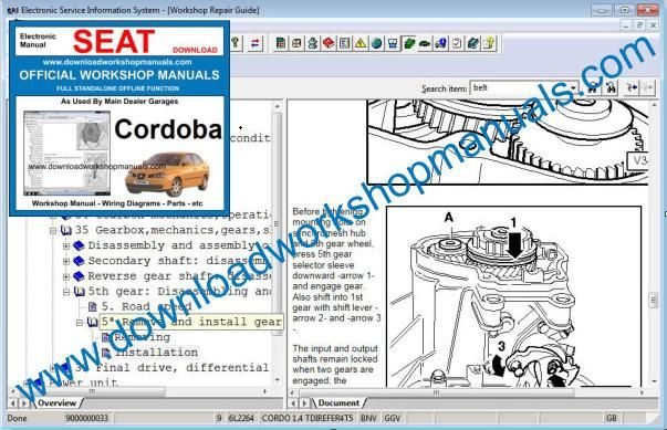 Seat Cordoba Repair Manual