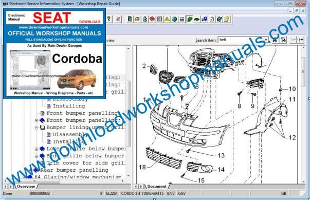 Seat Cordoba Workshop Manual
