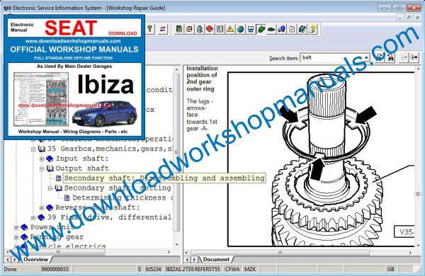 Seat Ibiza Workshop Repair Manual