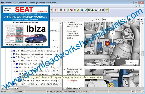 Seat Ibiza Workshop Repair Manual