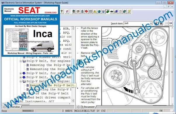 Seat Inca Repair Manual