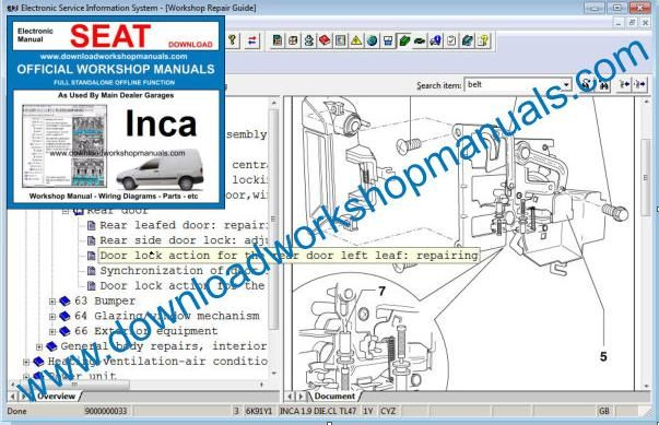 Seat Inca Workshop Manual